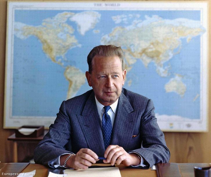 Dag Hammarskjöld egykori ENSZ-főtitkár