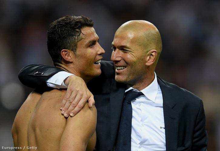 Zidane és Ronaldo a BL-győzelem után