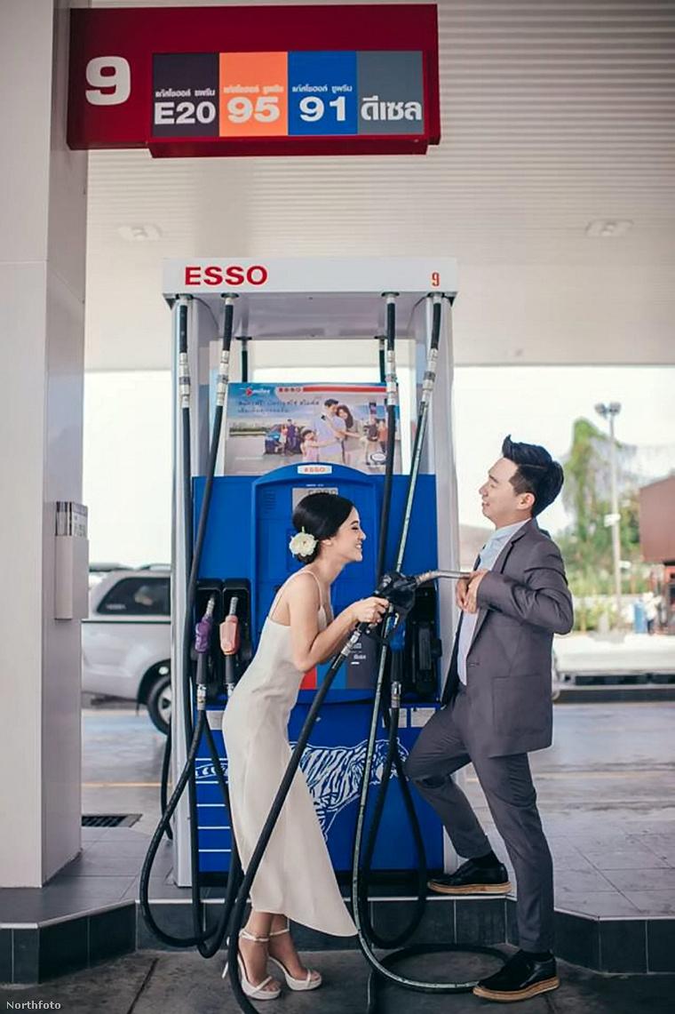 Ők viszont már Nattarin és Au Phakphumphaisal, Thaiföldről, akik egy benzinkúton dolgoznak