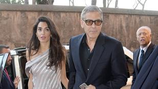 George Clooney egy igazi úriember, el is vitte a feleségét egy római randira