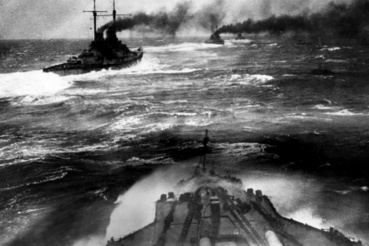 Német páncélos csatacirkálók a csata reggelén.