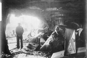 A német Derffinger oldalán tátongó lyuk Jütland után