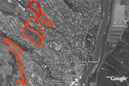 Az önkormányzat hét éve kijelölt egy 57 hektárnyi, öt nagyobb részből álló területet