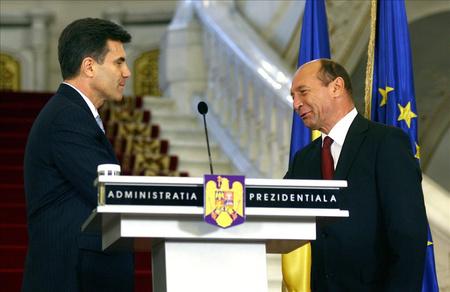 Lucian Croitoru és Basescu