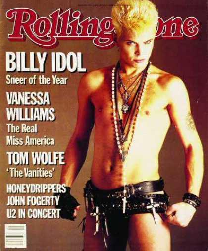 Billy Idol fénykorában a Rolling Stone címlapján