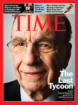 Murdoch, az utolsó mágnás a Time címlapján 2007-ben