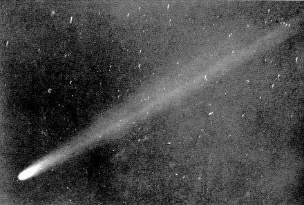 1910-es felvétel a Halley-üstökösről