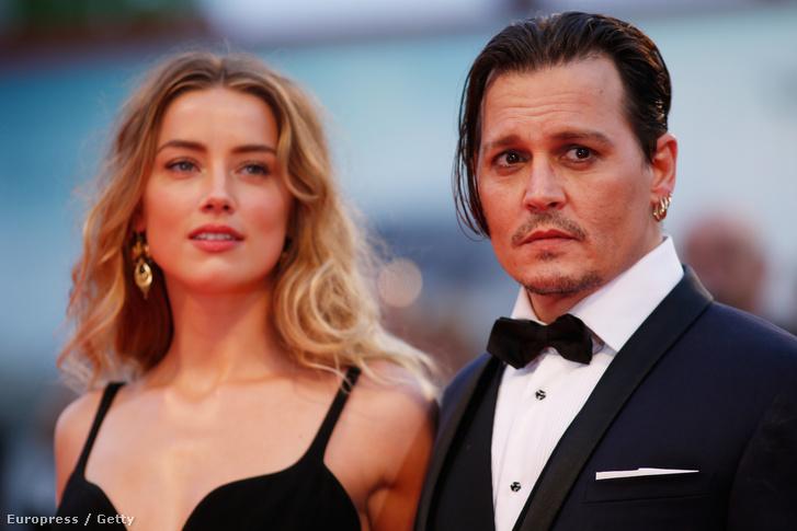 Depp és Heard a Velencei Filmfesztiválon, 2015-ben.