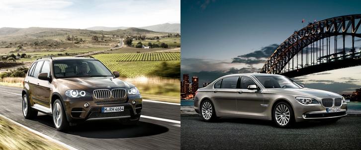 BMW X5 és 740LI