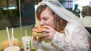 Megint itt egy hamburgerező menyasszony