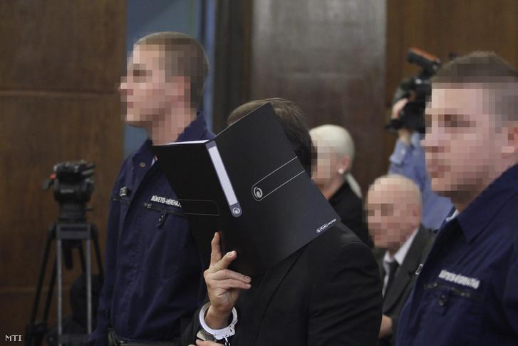 Vizoviczki László (k) az ellene és 32 társa ellen vendéglátó-ipari tevékenységgel összefüggésben elkövetett költségvetési csalás vádja miatt indult büntetőper tárgyalásán a Fővárosi Törvényszéken 2014. november 19-én.