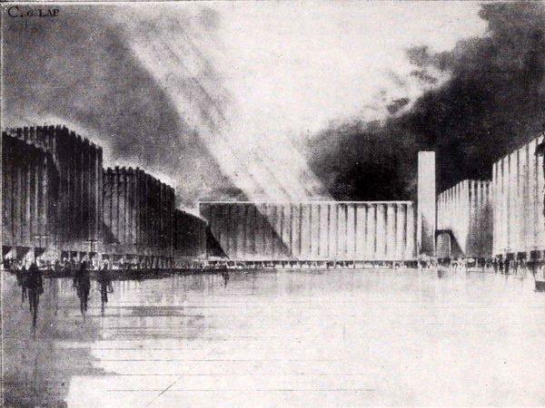 A Münnich Aladár tervezte Új Városháza épülettömbje a Károly körút-Bajcsy-Zsilinszky út találkozásánál