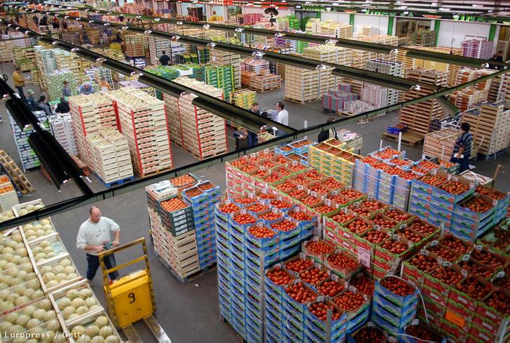 A párizsi Rungis piac.
