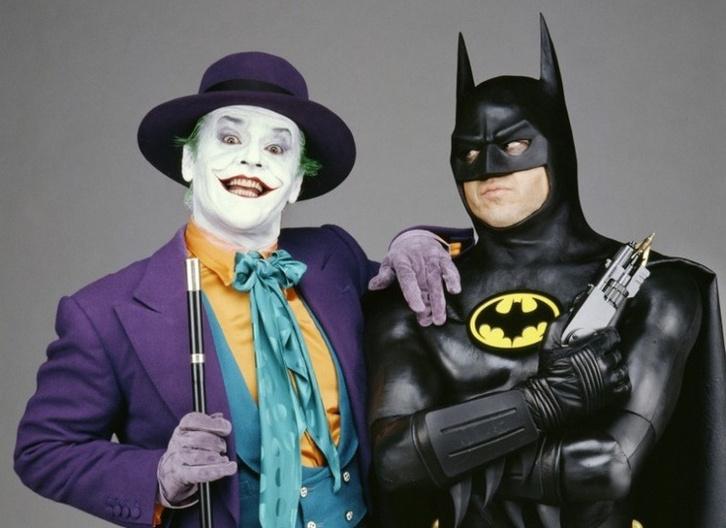 Jack Nicholson és Michael Keaton mint Joker és Batman