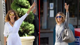 Sarah Jessica Parker az utcán is úgy sétál, mintha a Szex és New Yorkból lépett volna elő