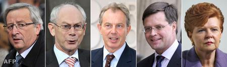 A potenciális jelöltek: Jean-Claude Juncker Luxemburg miniszterelnöke, Herman Van Rompuy Belgium miniszterelnöke,  Tony Blair az Egyesült Királyság volt miniszterelnöke, Jan Peter Balkenende Hollandia miniszterelnöke és Lettország volt elnöke Vaira Vike-Freiberga