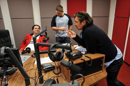 Csiszár a Class FM stúdióban