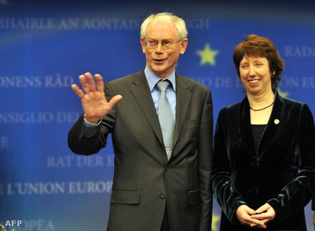 A győzetsek, Herman Van Rompuy és Chaterine Ashton