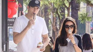 Ashton Kutcherék szanaszét cukiskodták magukat a fagyival