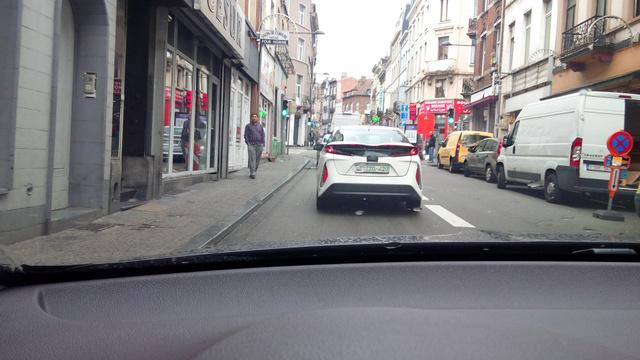 Toyota Prius IV Plug-in, Brüsszel utcáin. Fotó: Árvai Sándor