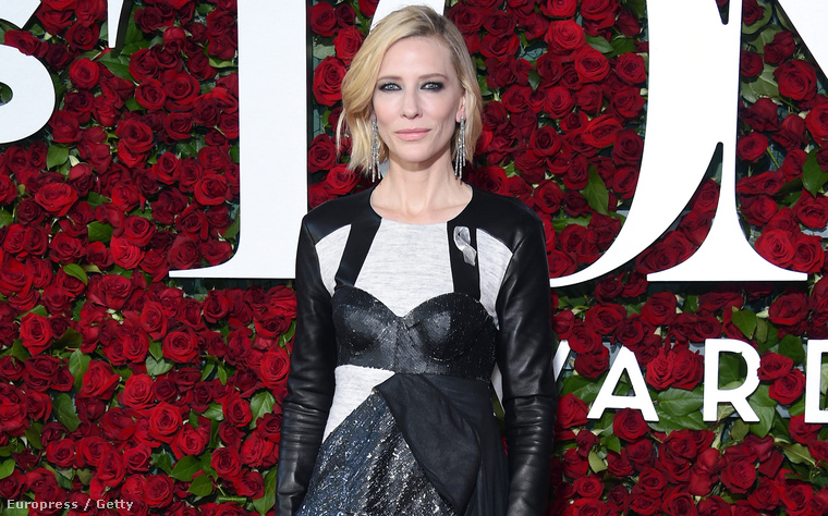 Cate Blanchett színésznő a Tony-kiosztón