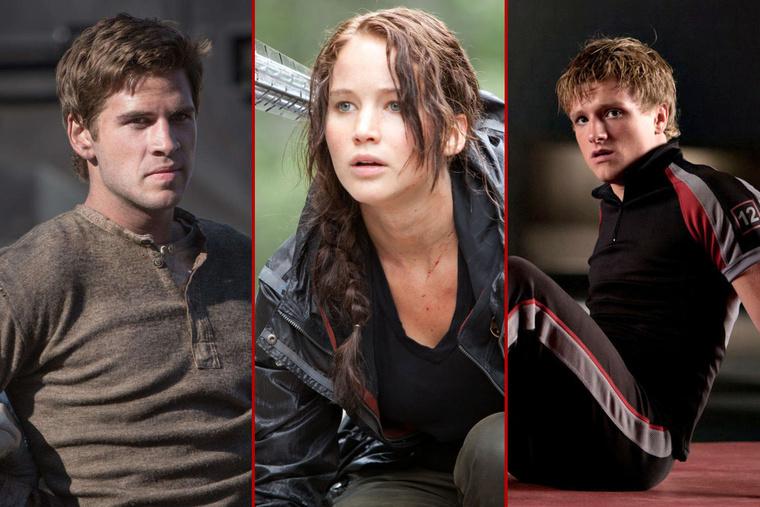 Gale, Katniss, Peeta