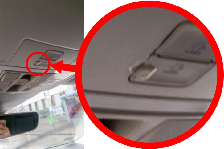 A tulajdonos fotója, telefonnal: a homályban talán látszik, hogy a gomb mellett csöpög a víz