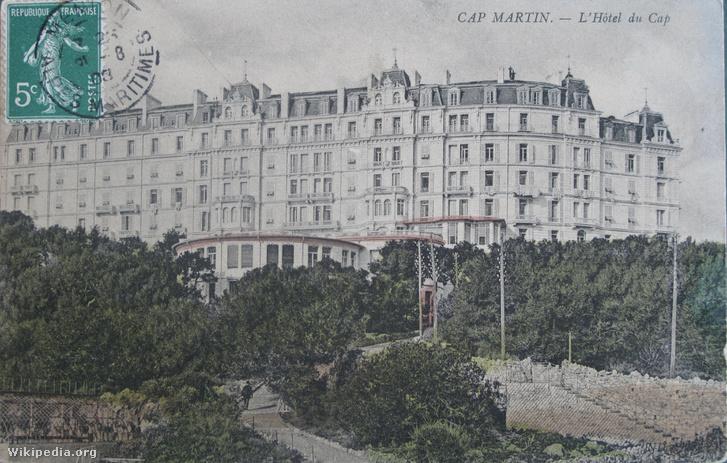 Grand Hotel du Cap-Martin egy 1908-as képeslapon