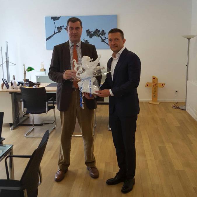 Rogán Antal és Marcus Söder bajor pénzügyi és területfejlesztési miniszter találkozója Nürnbergben