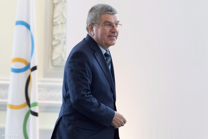 Thomas Bach, a Nemzetközi Olimpiai Bizottság német elnöke a NOB és a tagszervezetek vezetőinek a doppingolás elleni küzdelemről rendezett rendkívüli ülésén Lausanne-ban 2016. június 21-én.