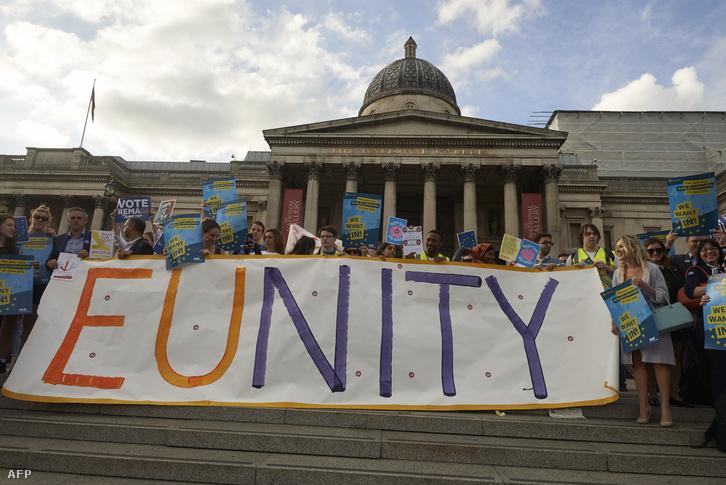A maradásért kampányolók Londonban