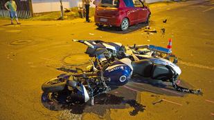 Súlyosan megsérült egy elgázolt motoros a II. kerületben