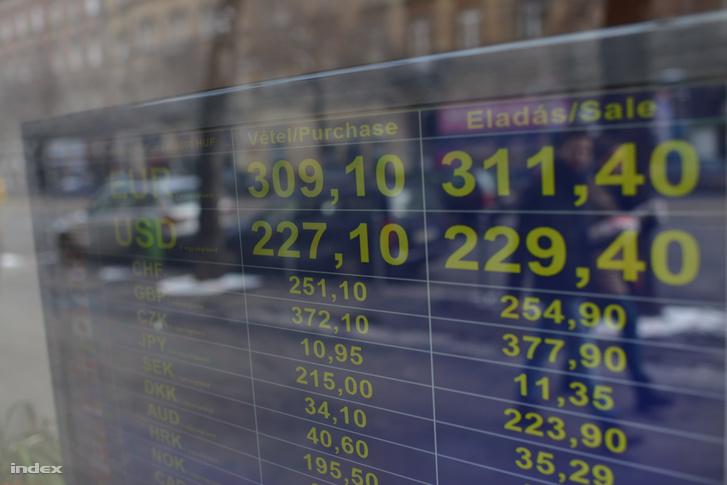 Képünk illusztráció, nem a péntek reggeli árfolyamokat látja