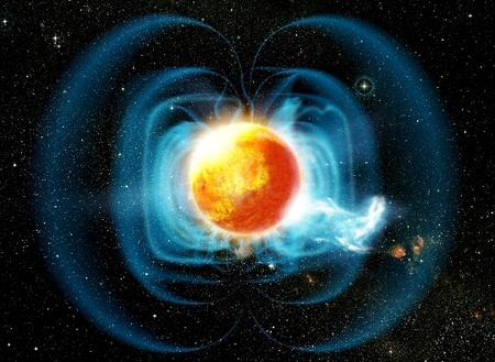 Fantáziakép a TVLM513-46546 jelű objektumról és erős gravitációs teréről (Forrás: Dana Berry, Gemini Observatory, SkyWorks Digital Animation)