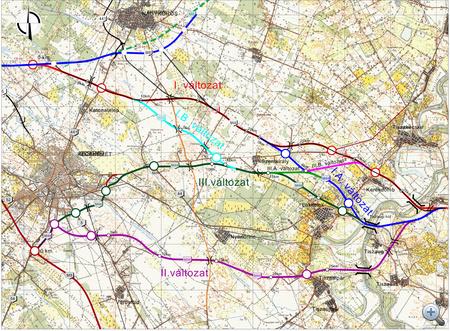 A Bács-Kiskun megyei nyomvonalváltozatok, forrás: roads.extra.hu