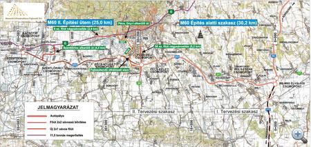 Az M60-as tervezett nyomvonala, forrás: roads.extra.hu