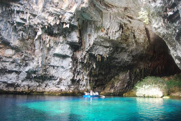 Melissani barlang, Kefalónia