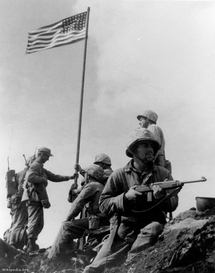 806px-First Iwo Jima Flag Raising
