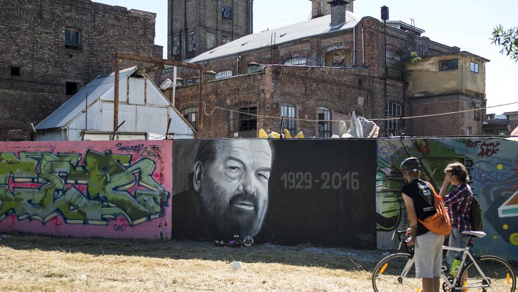 A Bud Spencerről készült graffiti