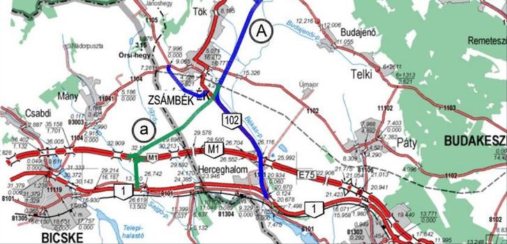 zsámbék térkép Index   Belföld   A zsámbékiakat szétszakítja az elkerülőút zsámbék térkép