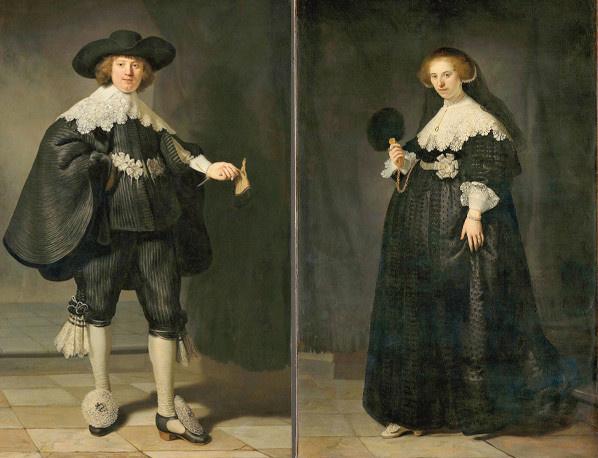 Rembrandt Marten Soolmans kereskedőről és felségéről, Oopjen Coppitról készült festményei