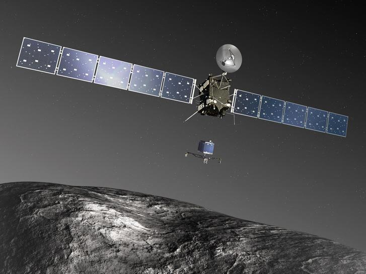 A Philae elválik a Rosettától egy fantáziaképen