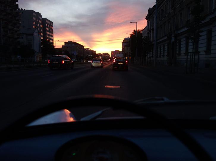Csodás naplementénk volt, ez már jó jel