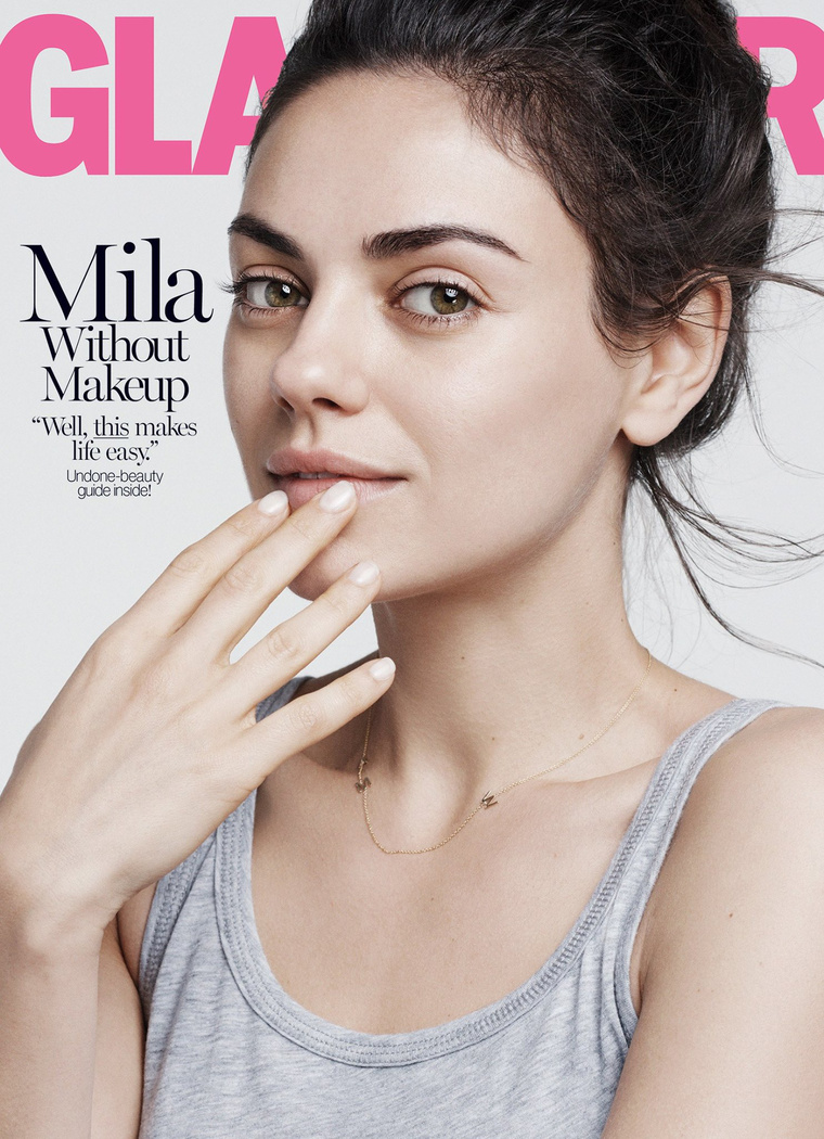 Mila Kunis az augusztusi Glamour címlapján.