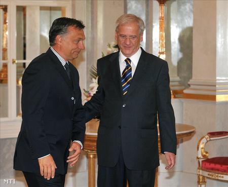 Orbán Viktor Sólyom Lászlónál februárban