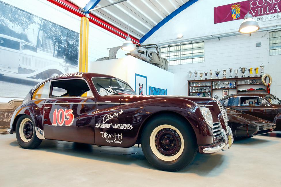 Az Alfa 6C 2500 S Freccia d'Oro-t Felice Bonetto a nyolcadik helyre vezette a Carrera Panamerica futamon; a kocsi restaurálásakor meghagyták az üléskárpitba cigarettával égetett lyukakat.