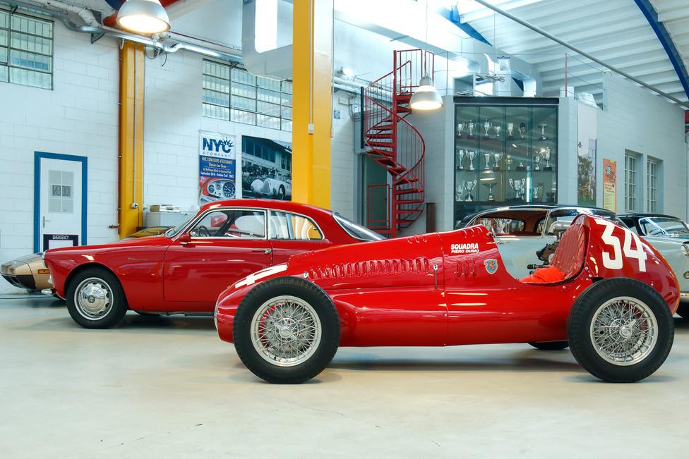 Az Alfa Giulietta gyönyörű, a Cisitalia D46 / 48 pedig rendkívül különleges, a Lopresto-gyűjtemény egyik éke. Egy időben Tazio Nuvolari is versenyzett a csővázas, 1100-as Fiat motorjával 170 kilométeres sebességre képes kocsival, amelyet Dante Giacosa és Giovanni Savonuzzi tervezett.