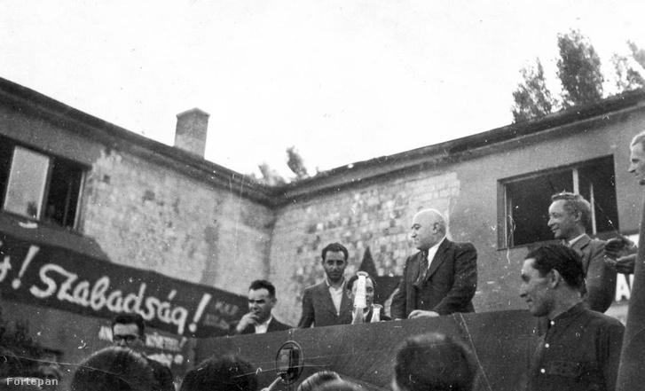 Rákosi Mátyás az 1945-ös nemzetgyűlési választások idején