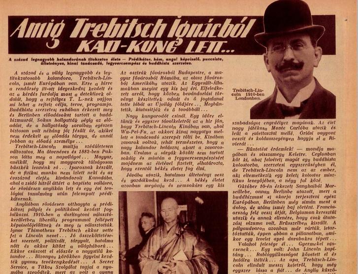 Trebitsch sztorija a Tolnai Világlapjában