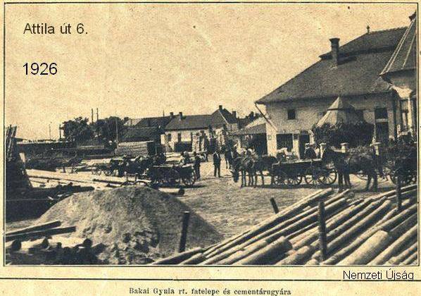 Bakai Gyula fatelepének udvara 1926-ban